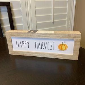 RAE DUNN NWT Happy Harvest Sign